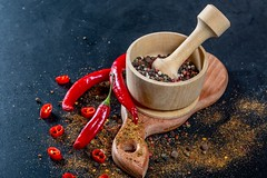 Hot (kronostone) Tags: chili cooking paprika aroma aromatic asian background bowl colorful condiment cook cuisine curry dark different dry flavor food indian ingredient kitchen natural organiccolor pepper powder red seasoning spice spices table traditional various wooden
