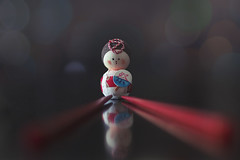 towing the line (rockinmonique) Tags: leadinglines 52weekchallenge8 tiny small japanese chopsticks macro bokeh reflectons red moniquewphotography canon canont6s tamron tamron45mm copyright2020moniquewphotography