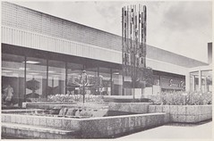 Hillsdale Shopping Center Landscape Design (hmdavid) Tags: hillsdale shopping center sanmateo california vintage brochure marketing 1950s 1960s landscape design metal fountain sculptures
