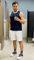 2/16 locker room selfie (SoQ錫濛譙) Tags: rhone underarmour mirror selfie popsocket lockerroom apple iphone11promax applewatch gym asian tanktop shorts sneakers newbalance socks