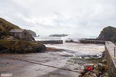 Mullion Harbour (Kai Greet) Tags: mullion harbour cornwall storm stormdennis sea waves coast uk