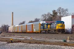 CSX AC4400CW 418 (rmssch89) Tags: train railroad railway diesel bergen county northern north newjersey locomotive engine freight intermodal manifest ge general electric autorack