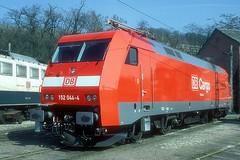 152 044  Würzburg  11.03.99 (w. + h. brutzer) Tags: 152 analog train germany deutschland nikon eisenbahn railway zug trains db locomotive lokomotive elok eisenbahnen eloks webru albumhubertboob würzburg
