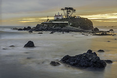A little light for the rocks (LOURENḉO Photography) Tags: california lighthouse shore picture coast light house crescentcity color
