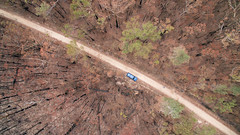 Fireground (OzzRod) Tags: dji phantom3advanced quadcopter fc300s207mmf28 drone vertical aerial bushfire forest burned vehicle conjola nswsouthcoast
