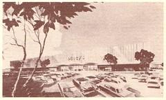 Macy's Hillsdale rendering (hmdavid) Tags: hillsdale shopping center sanmateo california vintage brochure marketing 1950s 1960s macys department store johnsavagebolles