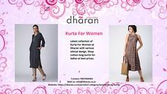 Kurta For Women (dharan.jaipur) Tags: women wear fashion eco friendly clothing kurta for long dharan jaipur
