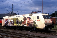 152 001  Bebra  24.05.99 (w. + h. brutzer) Tags: bebra 152 eisenbahn eisenbahnen train trains deutschland germany railway elok eloks lokomotive locomotive zug db webru analog nikon albumhubertboob
