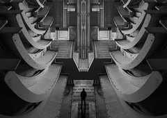 The traveller mono (www.MatthewHampshire.com) Tags: manipulated mono figure futuristic hank ou thank you ttt t