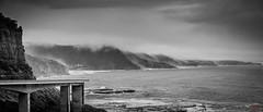 Australia Landscape Wollongong (eggwah123) Tags: blackandwhite bw monotone monochrome landscape seascape australia wollongong sony sonya7rii a7rii a7 a7iii a7r a7s fe felenses fe85mm fe85mmf18 primelens primes native nativelens lightroom lightroomblackandwhite overcast clouds fog coalcliff seacliffbridge