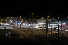 SBB Sargans - North Side (Kecko) Tags: 2020 kecko switzerland swiss suisse svizzera schweiz sargans sg europe sbb eisenbahn railway railroad zug train bahnhof station night nacht swissphoto geotagged geo:lat=47047530 geo:lon=9445310