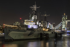 H.M.S Belfast (Newdawn images) Tags: hmsbelfast london riverthames nightshoot nightphotography longexposure canoneos5dmarkiv canonef24105mmf4lisusm