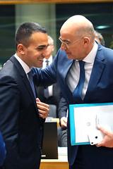 O ΥΠΕΞ Ν. Δένδιας στο σημερινό Συμβούλιο Εξωτερικών Υποθέσεων της ΕΕ στις Βρυξέλλες (Υπουργείο Εξωτερικών) Tags: υπουργόσεξωτερικών νίκοσδένδιασ εε συμβουλιοεξωτερικωνυποθεσεων βρυξελλεσ ministerforeignaffairs dendias euforeignaffairscouncil brussels