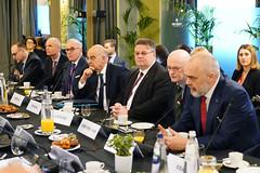 Ο ΥΠΕΞ Ν.Δένδιας σε πρόγευμα εργασίας με ομολόγους ΕΕ & ΠΘ Αλβανίας E.Rama (Υπουργείο Εξωτερικών) Tags: υπεξ δενδιασ προγευμαεργασιασ συμβουλιοεξωτερικωνυποθεσεων εε αλβανια βρυξελλεσ euforeignaffairscouncil workingbreakfast ministerforeignaffairs dendias brussels
