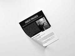 Folded A4 Paper Mockup by Anthony Boyd Graphics (atif26yousaf) Tags: mockup psd template modern showcase branding photoshop freegraphicdesignresources graphicdesign free freebie a4 paper