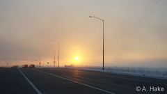 February 14, 2020 - Foggy conditions along Highway 85 at sunrise. (A. Hake)