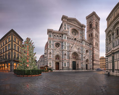 Cathedral Santa Maria del Fiore, Giottos Campanile, Florence, Italy (ansharphoto) Tags: ancient architecture basilica building campanile cathedral catholic church city cityscape clouds culture del dome duomo europe exterior facade famous fiore firenze florence historic history italian italy landmark marble maria mary medieval monument morning old panorama piazza religion renaissance santa sky square street tourism tower town travel tuscany urban view worship