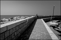 Pier (GColoPhotographer) Tags: molo bw liguria boat sail blackandwhite bianconero sea