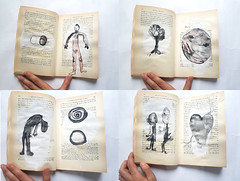 "pages in ""Eros and Civilization"" (Ines Seidel) Tags: illustration alteredbook ink drawing zeichnen tusche buch"