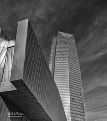 Reaching for thr Sky (Kool Cats Photography over 13 Million Views) Tags: architecture artistic abstract art abstractart artwork clouds blackandwhite building bw highcontrast cloudformations photography madeofsteel skyscraper patterns perspective