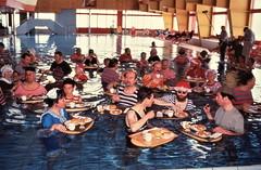 Leukerbad - aquatic breakfast (photo courtesy of Tim Owen)
