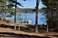 Anxiously Awaiting Spring HBM (donnacurrall) Tags: northernneckofvirginia cove corrotomanriver lancastercounty boats picnictables river trees water dock