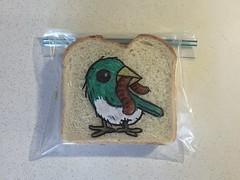 #Earlybird (D Laferriere) Tags: blue early bird worm markers drawing bread attleboro laferriere dad sandwichbagdad sandwichbagart sandwich bag art sharpie sharpies