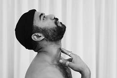 Elias # 16 (just.Luc) Tags: man male homme hombre uomo mann baard barbe barba bart beard portret portrait ritratto retrato porträt face gezicht visage gesicht bn nb zw monochroom monotone monochrome bw