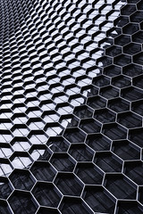 Andaz Singapore (mikemikecat) Tags: ç´è² andaz singapore looking up architecture pattern no people built structure day backgrounds full frame repetition metal design closeup shape indoors grid geometric textured hexagon grate abstract silver colored building exterior sky cloud low angle view city modern tall high office nature skyscraper tower outdoors travel destinations directly below financial district mikemikecat reflection