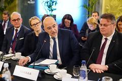 Ο ΥΠΕΞ Ν.Δένδιας σε πρόγευμα εργασίας με ομολόγους ΕΕ & ΠΘ Αλβανίας E.Rama (Υπουργείο Εξωτερικών) Tags: υπουργειοεξωτερικων υπεξ νικοσδενδιασ ευρωπαϊκηενωση βρυξελλεσ πρωθυπουργοσ αλβανιασ erama mfaofgreece ministerforeignaffairs dendias brussels europeanunion primeminister albania rama