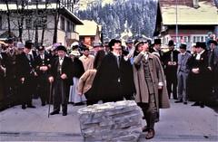 Arriving at Kandersteg, Holmes & Watson (Philip Porter & Tim Owen) spot something interesting (photo courtesy of Tim Owen)
