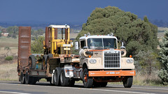 White Threesome (1 of 3) (Jungle Jack Movements (ferroequinologist) all righ) Tags: white road old boss highway sydney melbourne international hauling hume gmc haulin yass 4000 7000 ford vintage hp transport peak historic lorry freeway falcon veteran xr commander horsepower wagon nose drive big trucker rig delivery freight haul bulk hgv cabover truck ship power engine move cargo semi vehicle motor interstate trailer load freighter teamster b tractor wheel prime cabin diesel cab australia double driver loud mover exhaust injected new wales south australian nsw