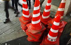 (UrbaceousSentiment) Tags: pylone pylon traffic cone rot red tokyo tokio japan digital pentax k200d