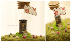 love letter, miniatures mailbox, postbox,  Tiny message in a bottle, Personalised Gift, love card, Valentine Card, Gift for her/him, Girlfriend gift, birthday card, holiday card and funny card ideas (charles fukuyama) Tags: xmas christmastreedecor christmascard handmade custom unique cute art homedecor deskdecor lovecard sweet greetingscard paper seasonalcard partygift personalizedgift longdistancegift birthdaygift kikuikestudio