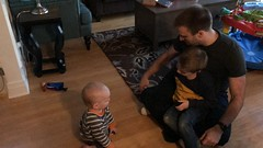 """Matt Plays with Paul and Luc • <a style=""""font-size:0.8em;"""" href=""""http://www.flickr.com/photos/109120354@N07/49548311843/"""" target=""""_blank"""">View on Flickr</a>"""