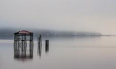 Calm - Bayfront Park (jlmcalp) Tags: fog dock bay alabama
