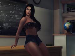 At the class (Cherry.Blake) Tags: firestorm secondlife class girl brunette badgirl secondlife:region=magneticisland secondlife:parcel=hermoupolisbyartanonymusspring secondlife:x=21 secondlife:y=188 secondlife:z=33