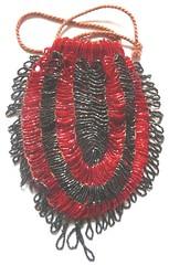 1920s drawstring red black beaded bag1 (gillianhorsup) Tags: 1920s red black glass beads drawstring bag