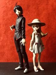 Related by Blood (Sasha's Lab) Tags: related koyomi araragi high school teen boy shinobu oshino blond tween girl vampire blood figma action figure jfigure gsc