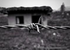 Ghost Town (christianborjat7) Tags: black white dark hd azuay ecuador chordeleg wire fence blackandwhite amateur