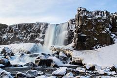 Öxárfoss (olofrun95) Tags: waterfall iceland snow ice öxárfoss þingvellir thingvellir nikon