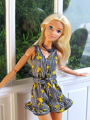 Yellow Light Shining Down (back2s0ul) Tags: barbie doll millie camping fun fashionista greenhouse madetomove