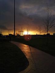 golden path (auroradawn61) Tags: sunset poole dorset uk england winter february 2020 path golden motog mobilephonephotography urban