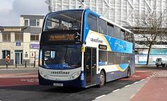 Stagecoach South 10008 (GX12 DXP) Portsmouth 17/2/20 (jmupton2000) Tags: gx12dxp alexander dennis enviro 400 trident stagecoach south uk bus southdown coastline coastliner 700