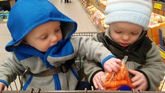 """Luc and Sam at Aldi • <a style=""""font-size:0.8em;"""" href=""""http://www.flickr.com/photos/109120354@N07/49548830112/"""" target=""""_blank"""">View on Flickr</a>"""