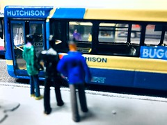Belshotmuir Diorama gains some 1/76 scale people 16/02/2020 (GlasgowModelVehicles) Tags: kirriemuir shotts bellshill belshotmuir transit transportation travel transport service public friendly accessible disability disabled easyaccess lowfloor y182 y181 bgb repainted repaint respray code3 layout diorama wishaw strathclyde scottish scotland lanarkshire livery jubilee golden y182bgb y181bgb renown wright volvo buggybus buggy access easy floor low buses bus replica model
