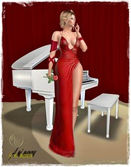 BLOGGERS-ArisArisB&W~CoAl51~Magnetize Gown Outfit-HUD_001 (Lules_Brimm) Tags: fashion vogue female woman piano love secondlive
