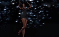 ♪♫Save the last dance for me♪♫ (K I Z Z Y) Tags: music song salsa dance lights sparkle second life secondlife sl firestorm portrait virtual pixel avatar female girl blackbackground avi