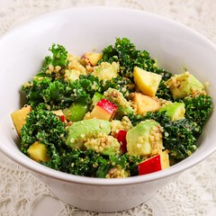 KALE SALAD WITH QUINOA & APPLES (@TasteMeraki) Tags: food foodie foodphotography yummy delicious foodblogger foodlover foodgasm dinner healthyfood foodies lunch restaurant tasty eat healthy homemadenbsp breakfast