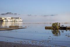 As the fog burns off (J Erickson) Tags: fog floatinghome water bay morningfog